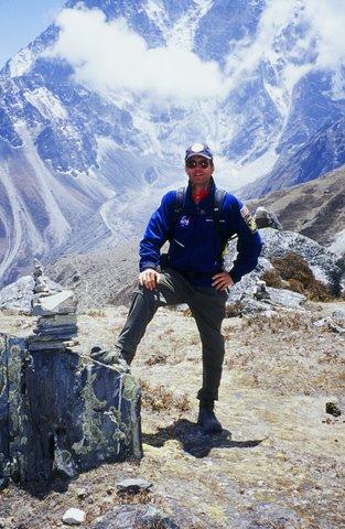 Scott Hamilton on the trail to Mt. Everest